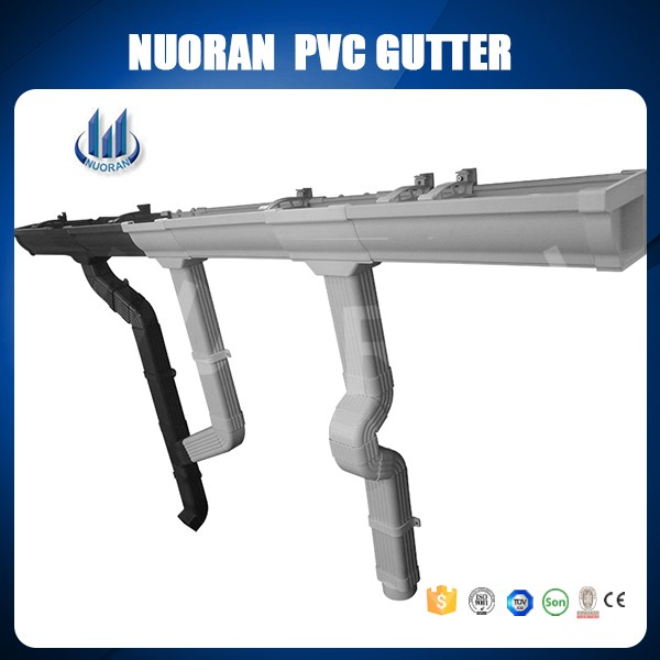 factory directly 5.2inch pvc plastic rain gutter roof drain