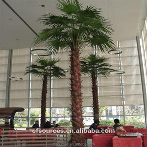 indoor artificial washingtonia palm trees for mall airport hotel landscape