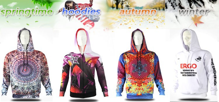 2017 sublimated hoodies polyster manufacturers china custom hoodies
