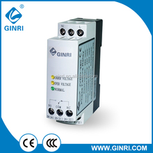 GINRI SVRD Single phase Voltage Monitoring Relay 0ver under voltage protection device Electronic control relay
