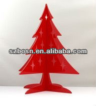 Red acrylic christmas tree;lucite christmas decoration;Perspex christmas gift;