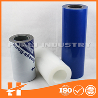 Transparent pe plastic film with glue