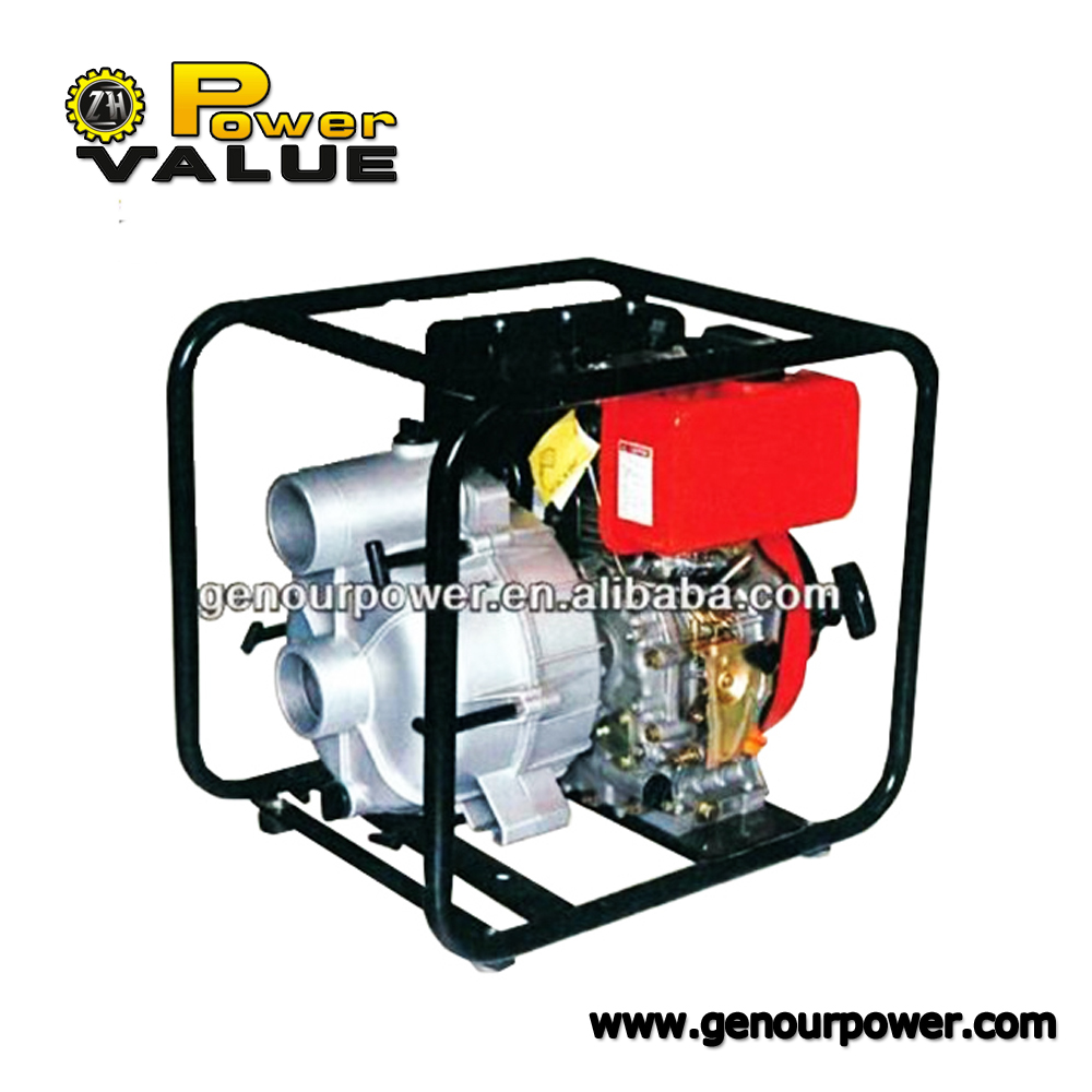 Diesel Trash Pump 3 inch self-priming centrifugal 25m lift 7m suction displacement ZH30SP