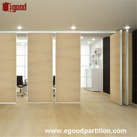sliding folding partition moving wall and room divider for high-frade office