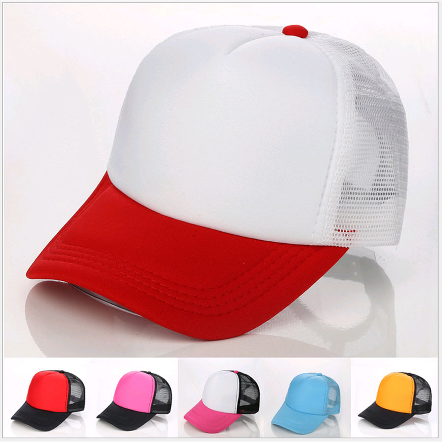 Colorful Cap Blank Candy color baseball hats <strong>Customized</strong> Net caps Hip Hop LOGO printing Adult hats Casual Peaked hat