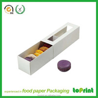 Free sample Customized Paper Macarons Box Cookie Box corrugated paper box for macaron