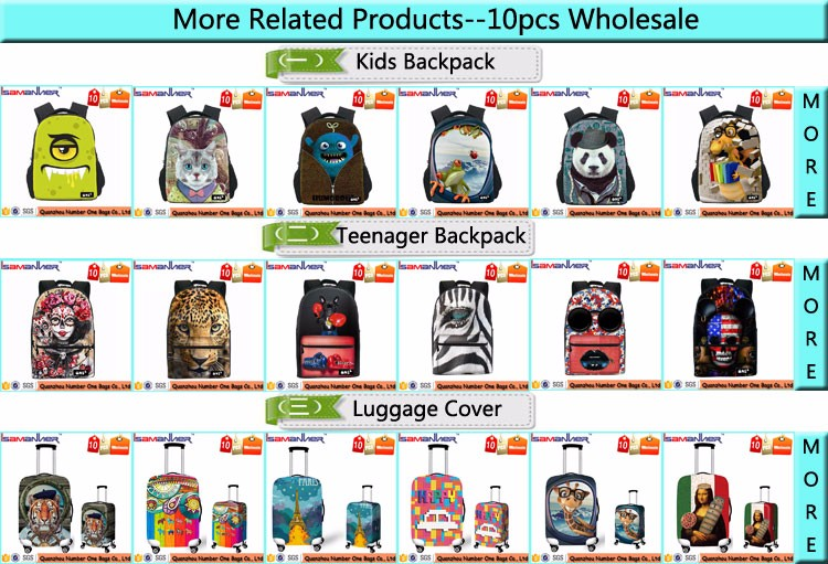 10pcs WHOLESALE kids school back pack 3D children cheap school backpack
