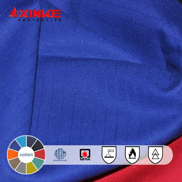 fireproof fabric 100% cotton with low shrinkage