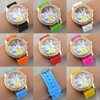 Silicone Geneva Watch Relogio Feminino Fashion Women Wristwatch Casual Luxury Watches Hot Selling