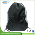 Alibaba OEM Custom Polyester Printed Drawstring Basketball Dust Backpack Wholesale