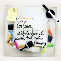 Glass writing memo decoration board , glass wall whiteboard drawing message board