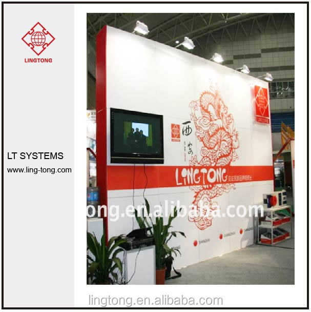 Trade Show Exhibition Booth with All-sealed Panel Display Wall System