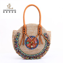 2017 New arrival wholesale summer lady pp straw bag beach handbags