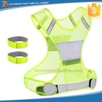 New Products Cheap Safety Luminous LED Running Bracelets Vests Reflective Hi Vis Jacket Vest For Fabric Sexy Women On Clothes