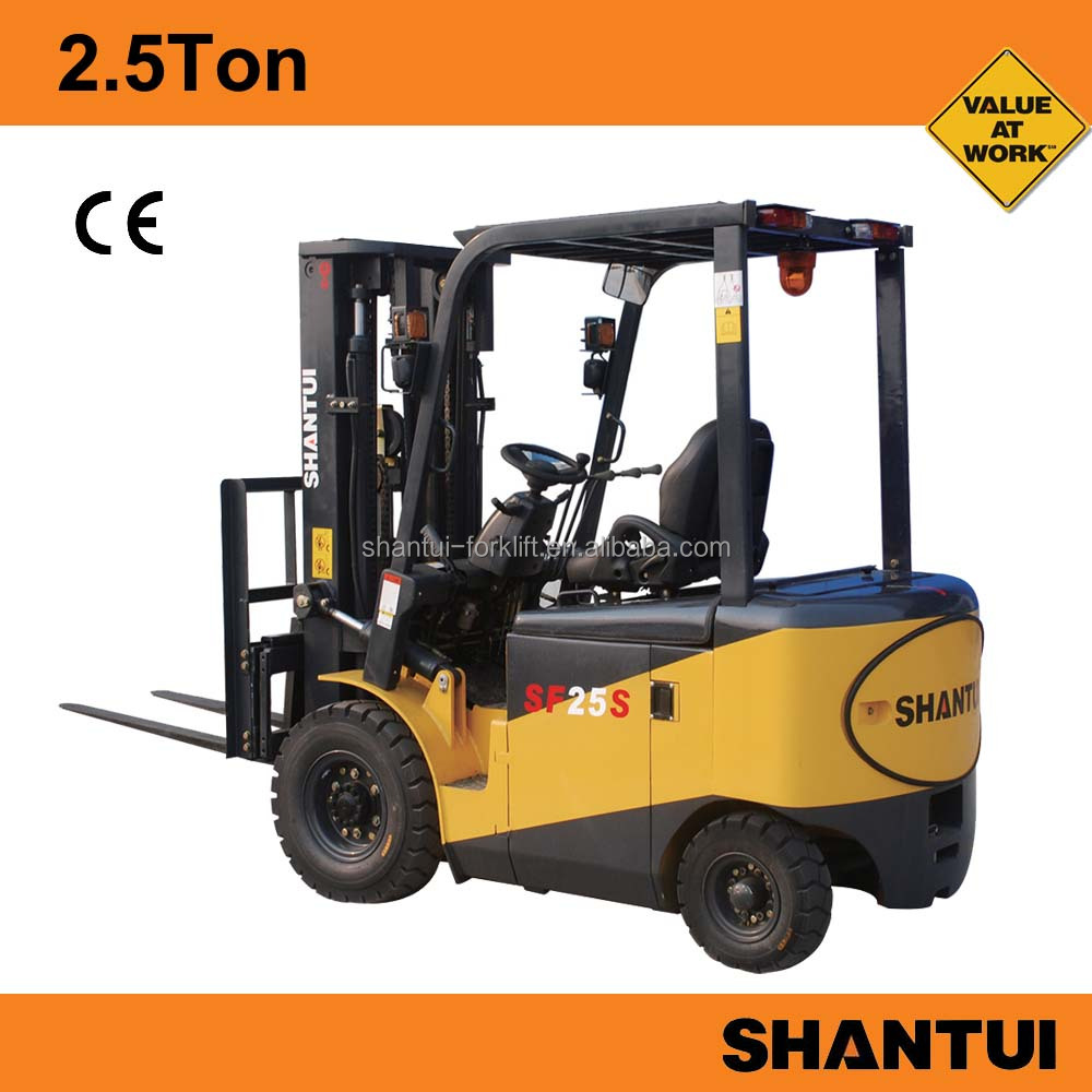 China 2.5Ton used 4 wheel electric forklift for sale with Curtis controller