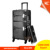 Professional large trolley Aluminum Cosmetic Case with 4 wheels, rolling makeup case with trays