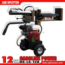 Briggs & Stratton I/C or Vanguard and Honda GX200 gasoline engine configured optional 12ton wood log cutter and splitter