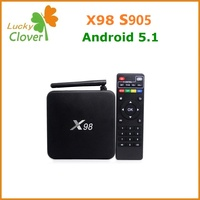 2016 Google 4K Quad Core , Android X98 Amlogic S905 Android 5.1 OTT TV Box