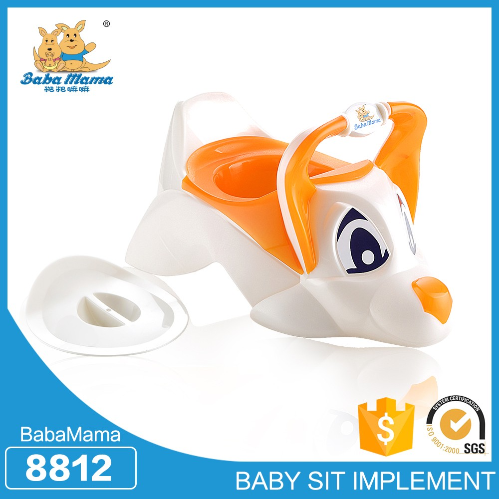 Plastic kids potty pink trainning children hot flushable paper toilet seat cover baby potty chair