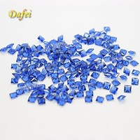 Beautiful Blue Square Glass Gems For Decoration