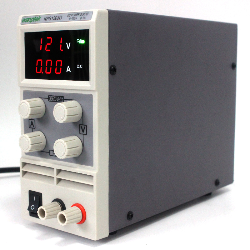 Wanptek KPS1203D 0-120V/0-3A 0.1V 0.01A Adjustable High precision digital LCD display mini switching DC Power Supply