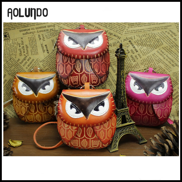 Designer custom girls leather small owl coin purse wallet case for sale 2016