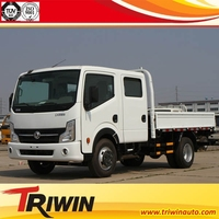 4x2 drive wheel EURO 2 3 4 130hp 96KW diesel engine 6 wheel dong feng double cab light truck