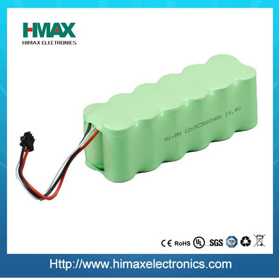 NiMH 14.4V SC 3500mAh rechargeable vacuum cleaner battery pack