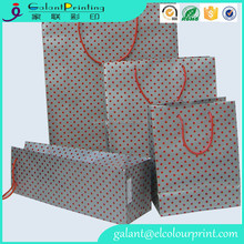 Medium Size Polka Dots Paper gift favor bags/Shopping paper bags
