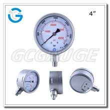 High quality stainless steel bottom type ultra oil pressure gauge