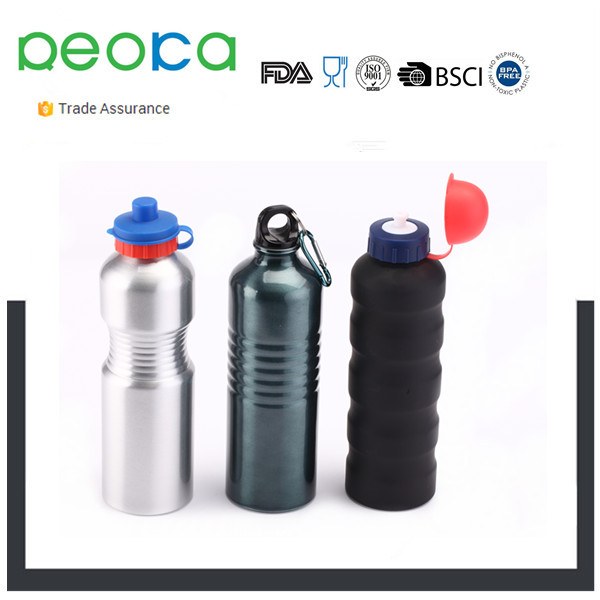 Aluminum Beverage Bottle 400/500/750/1000 mL Aluminum Bottle with Carabiner Lid Aluminum bottle manufacturer