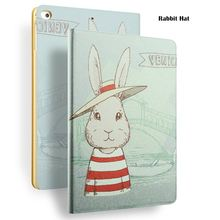 Rabbit Hat Painting Case for iPad Mini 1/2/3, for iPad 8 inch Case, for iPad Mini with Color Printing