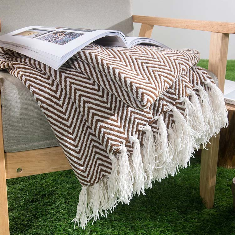 summer knitted travel outdoor blanket