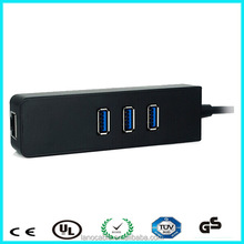 Support enternet 10 / 100 / 1000 Mbps 3 HUBS 2.0 / 3.0 usb to lan port adapter