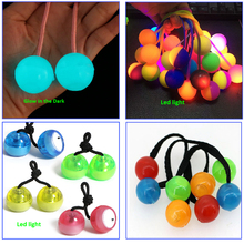 Finger Yoyo/Finger yo-yo, Flash Fidget Bead Finger Mini YOYO Bead Ball Hand Spinner Toy with Color Changing LED Lights