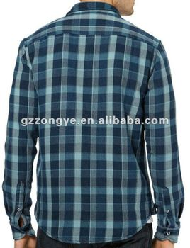 men's long sleeve plaid flannel brushed cotton shirt, plaid shirt for autumn