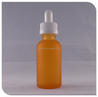 frosted orange 15ml nail polish bottle glass for sale