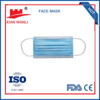 3ply Non woven Disposable surgical face mask- Hubei China