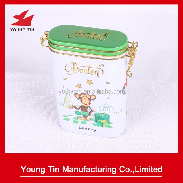 new design printing 3D embossing tin box metal tinplate tea storage sealing tin can