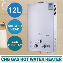 12L NATURE GAS HOT WATER HEATER LCD DISPLAY SHOWER HEAD INSTANT BOILER