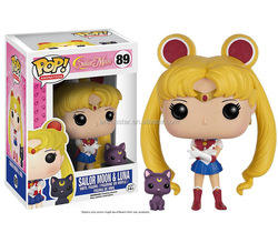 New Arrivals Funko POP Sailor Moon Luna Anime PVC Figure Fashion Design Anime Plastic Figure #89