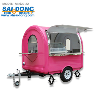 Eco-friendly mobile fast food cart for sale