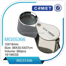 Best selling MG55366 jewelry loupe 10x magnifier mini triplet jewellery magnifier