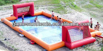 inflatable water soap football games A6056