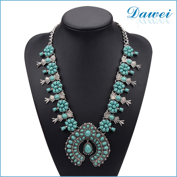 turkey turquoise jewelry necklace silver color fashion jewelry 2016