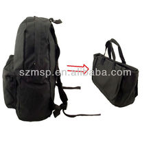 Nylon convertible bag (can be backpack or tote bag)