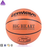 Lenwave brand super cost-effective custom printed office size high quality pu leather basketball manufacturer