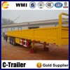 China low price 3 axle 40 tons cargo trailer wall panel trailer for sale