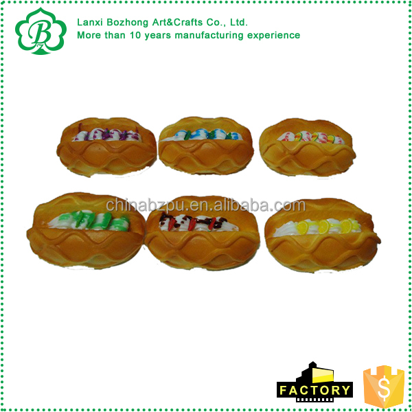 Fish and bread shaped pu stress ball for store decoration for Fish shaped bread