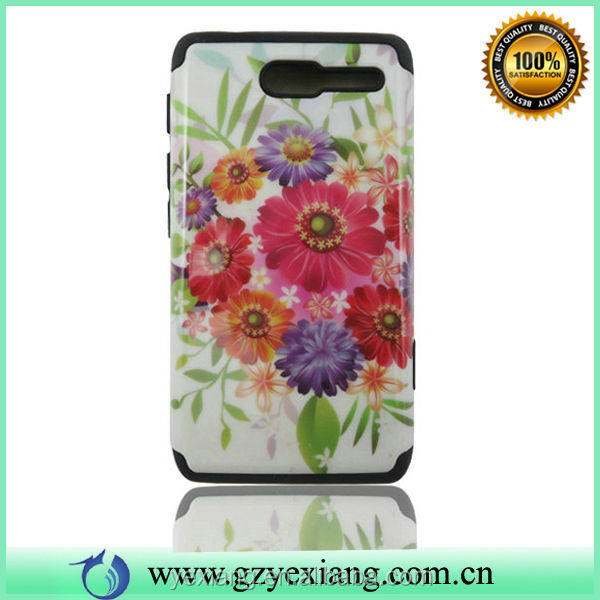 Glossy Design Printing Combo Case For Motorola Razr D1 Fundas Case
